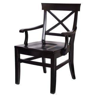 BirdRock Home Cross Back Mahogany Arm Chair