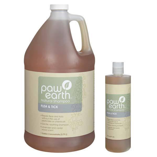 Paw Earth Flea&Tick Shampoo 17oz (Shampoo 1 Gallon), Purp...