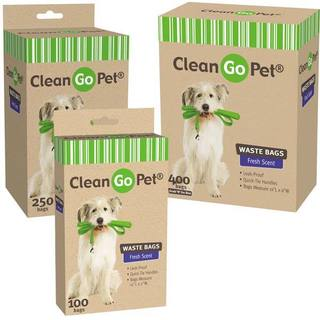 Clean Go Pet Fresh Scented Doggy Waste Bags 250Ct