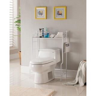 K&B Over the Toilet Shelf (Option: White Finish - White)
