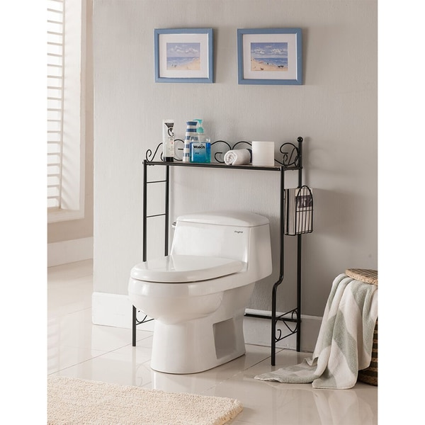 Shop K&B Over the Toilet Shelf - Free Shipping Today - Overstock.com ...