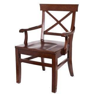 BirdRock Home Crosst Back Mahogany Arm Chair