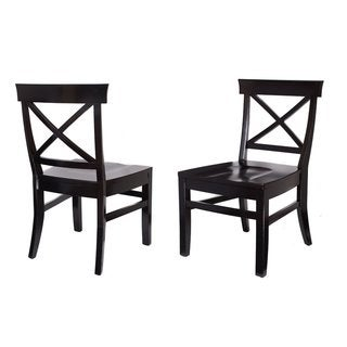 BirdRock Home Cross Back Dining Chairs (Set of 2)