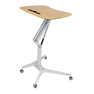Studio Designs Ridge Height Adjustable Steel and Maple Mobile Desk