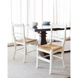 BirdRock Home Side Chair with Woven Rush Seat