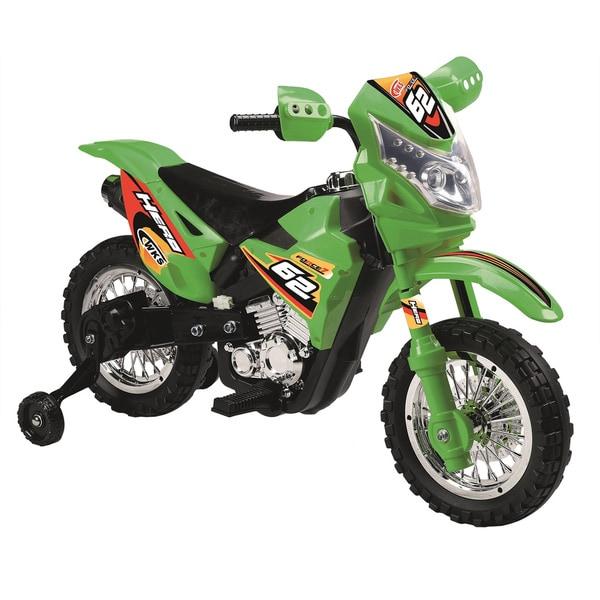 Best Ride On Cars Mini Dirt Bike with Headlight Green