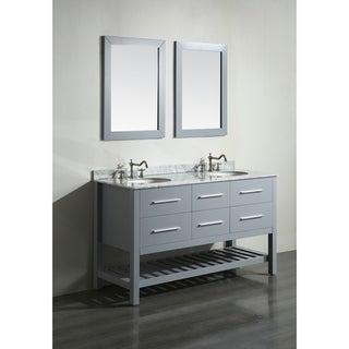 Bosconi SB-250-5GR 60-inch Double Vanity with Mirrors
