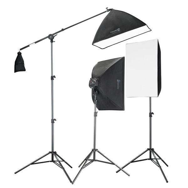 Studio Lighting Reviews: Shop 2275W Digital Video Softbox Lighting Kit Boom Set 2