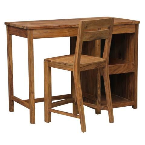 Wanderloot Urban Sustainable Sheesham Wood 2-shelf Contemporary Writing Desk