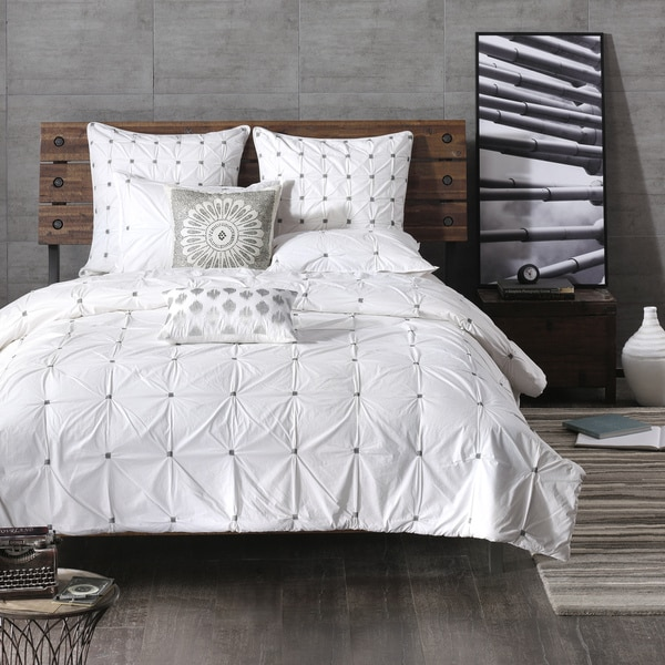 INK+IVY Masie White Cotton Comforter Mini Set