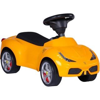 Best Ride On Cars Ferrari Push Car Yellow