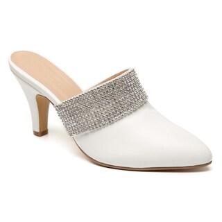 Ann Creek Women's Ingram Faux Suede Rhinestone Slide Heels (More options available)