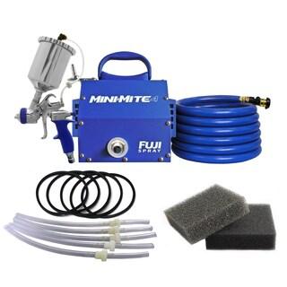Fuji Mini-Mite 4-T75G Gravity HVLP Spray System w/ Cup Kit + Turbine Filters