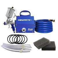 Fuji Mini-Mite 4-T75G Gravity HVLP Spray System w/ Cup Kit + Turbine Filters - Blue