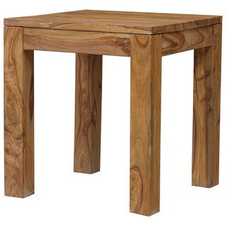 Handmade Wanderloot Urban Sheesham Wood Contemporary End Table (India)