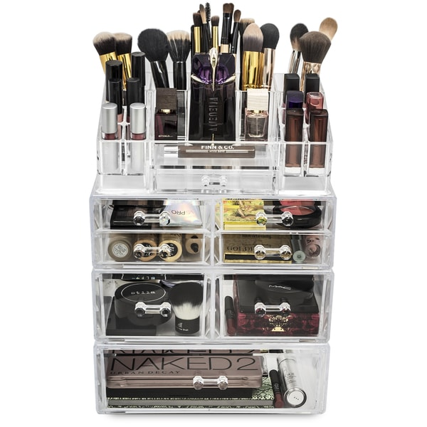 Large Acrylic 7 Drawer Makeup Organizer with Sectional - Free Shipping ...