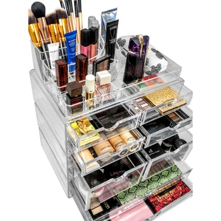 Set of Acrylic Drawers with X-Large Sectional Organizer
