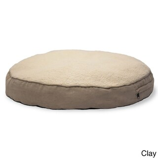 Furhaven NAP Round Deluxe Faux Sheepskin and Suede Pillow Dog Bed (5 options available)
