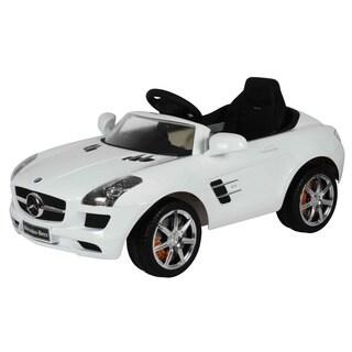 Best Ride-on Cars White 12-Volt Mercedes SLS AMG