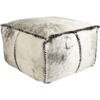Animal Angela Square Hair On Hide Pouf (22 x 22 x 13)