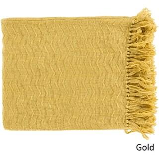 Intect Woven Cotton Throw (50 x 60) (Option: Gold)