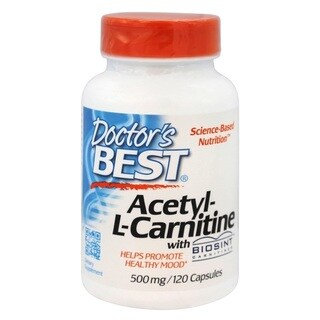 Doctor's Best Acetyl-L-Carnitine 500 mg (120 Veggie Caps)