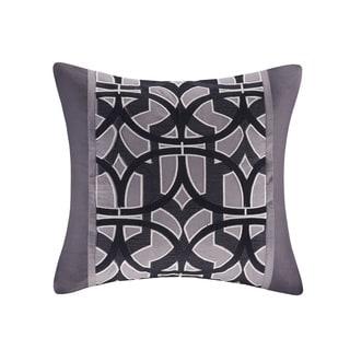 N Natori Abstract Stripe Cotton Square Pillow