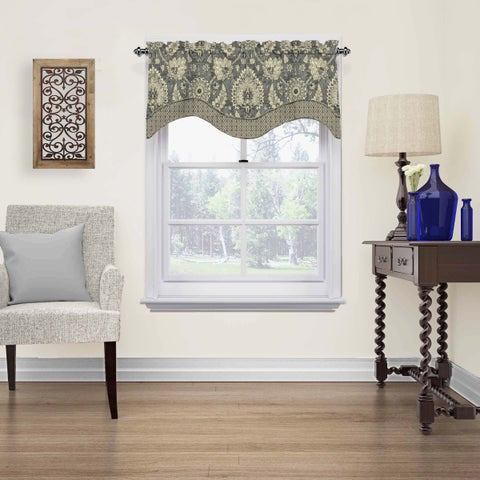 Waverly Clifton Hall Scalloped Window Valance - 52x18