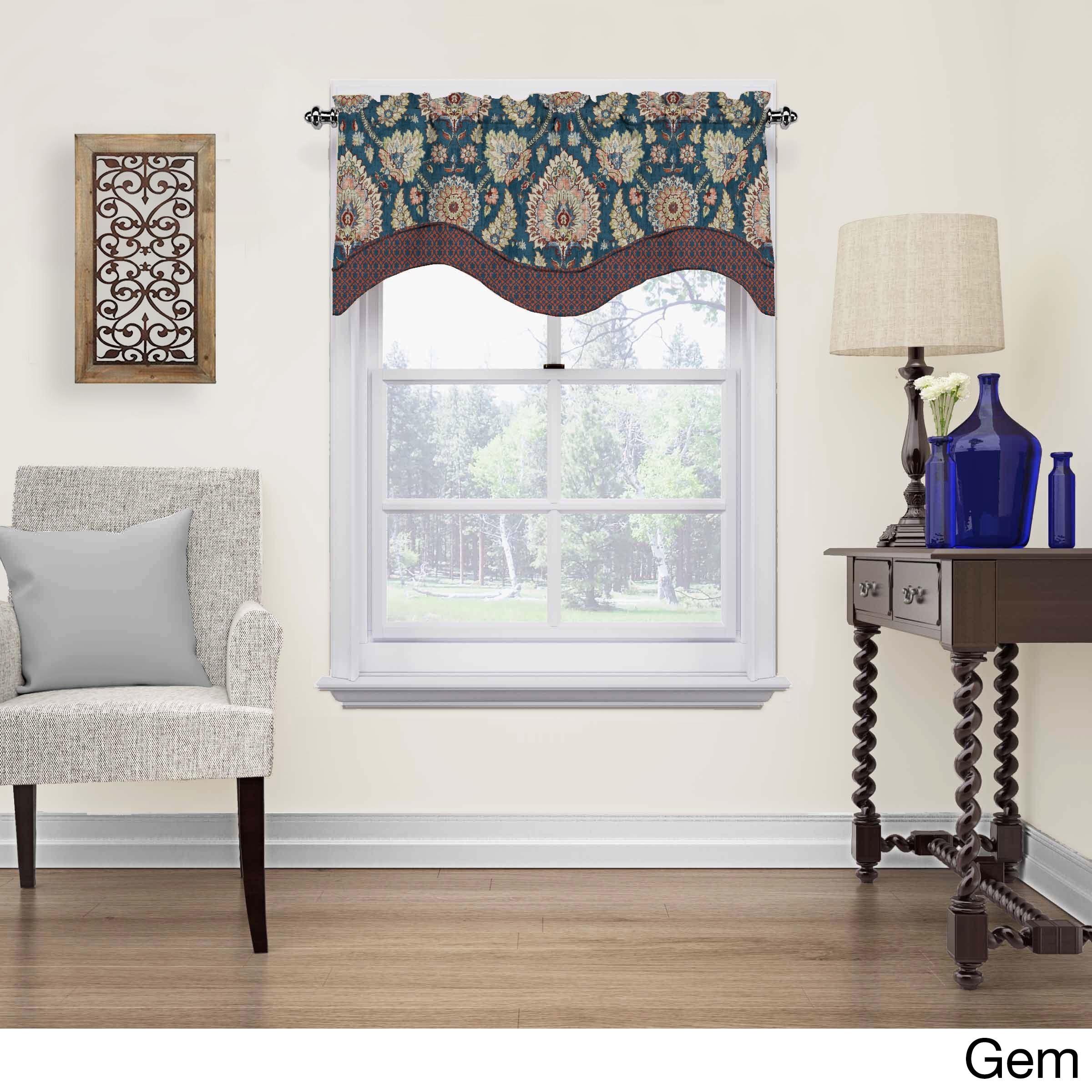 Waverly Clifton Hall Scalloped Window Valance (52x18 - Ge...
