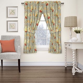 Waverly Sanctuary Rose Floral Window Curtain