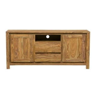Wanderloot Urban 64-inch Sustainable Sheesham 2-Door 2-Drawer TV Stand (India)