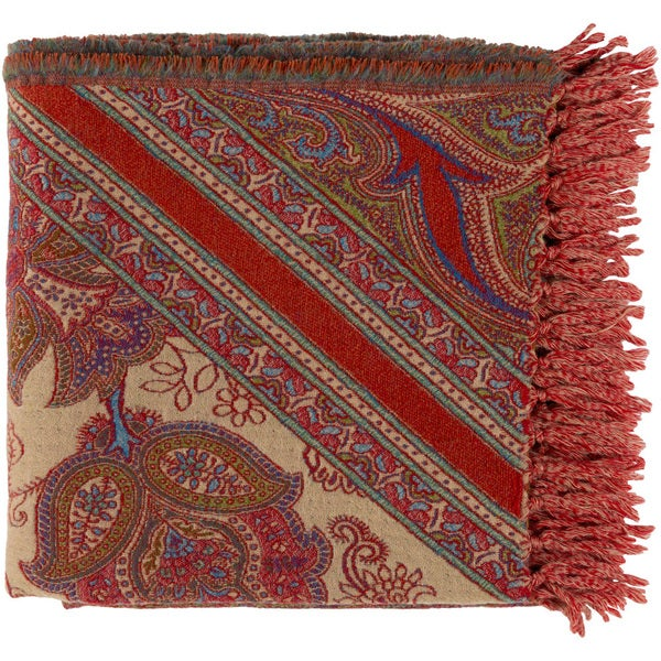 """Dusky Woven Wool Throw (50"""" x 70"""")"""