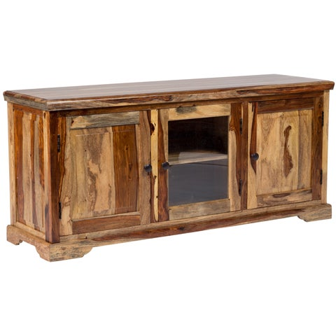 Handmade Porter Taos 64-inch Solid Sheesham Television and Media Stand (India)