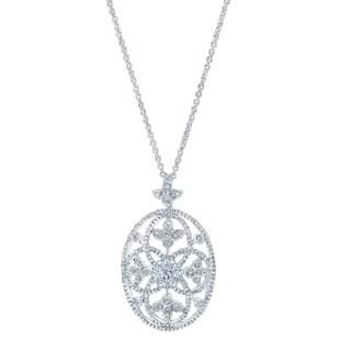 14k White Gold 1 1/3ct TDW Diamond Pendant (G-H, VS-SI)