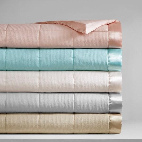 Madison Park Parkman Premium Oversized Hypoallergenic Down Alternative Blanket with 3M Scotchguard