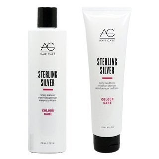AG Hair Colour Care Sterling Silver Toning 10-ounce Shampoo & 6-ounce Conditioner Set