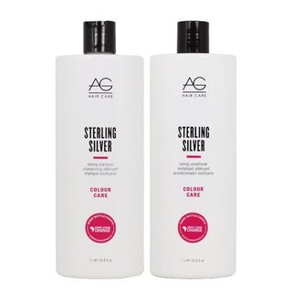 AG Hair Colour Care Sterling Silver Toning 33.8-ounce Shampoo & Conditioner Set