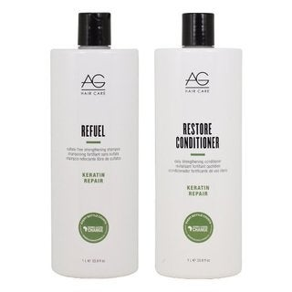 AG Hair Keratin Repair Refuel 33.8-ounce Shampoo & Restore Conditioner Set