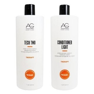 AG Hair Therapy Tech Two 33.8-ounce Shampoo & Light Protein-enriched Conditioner Set