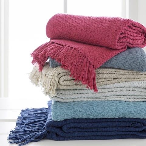 "Prance Knit Cotton Throw (50"" x 60"")"