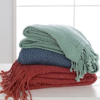 "Link to Newbury Knit Cotton Throw (50"" x 70"") Similar Items in Blankets & Throws"