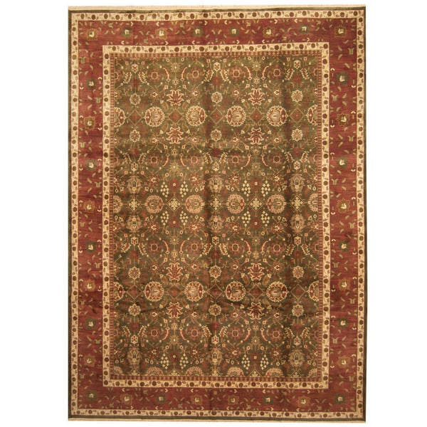 Shop Handmade Herat Oriental Indo Kashan Wool Rug (India