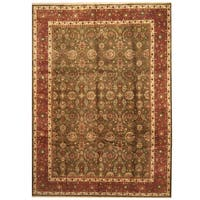 Handmade Herat Oriental Indo Kashan Wool Rug  - 9'10 x 13'7 (India)