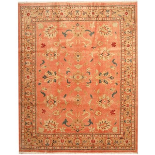 Herat Oriental Indo Hand-knotted Mahal Wool Rug (9'4 x 11'6)