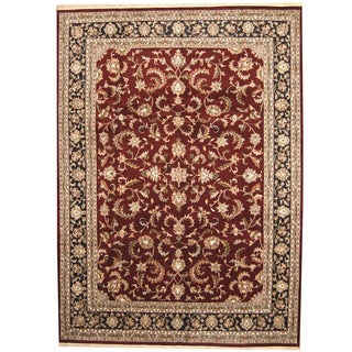 Herat Oriental Indo Hand-knotted Kashan Wool Rug (10' x 14')