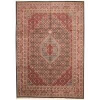 Handmade Herat Oriental Indo Bidjar Wool Rug - 9'10 x 13'10 (India)