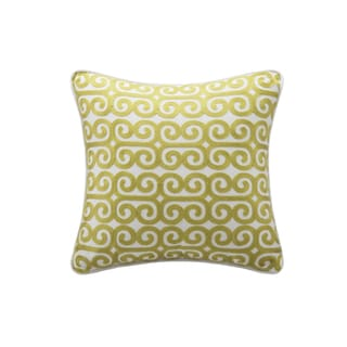 Echo Design Madira Yellow Square Pillow