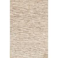 Pasargad Modern Hand-Loomed Beige Wool Rug - 6 x 9