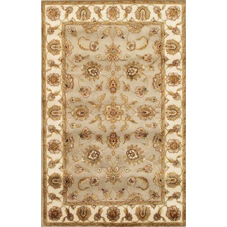 Pasargad Agra Hand-Knotted Camel-Ivory Silk and Wool Rug (4' x 6')