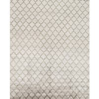 Pasargad Modern Hand-Knotted Silver-Green V.silk Rug (8' x 10') - 8 x 10